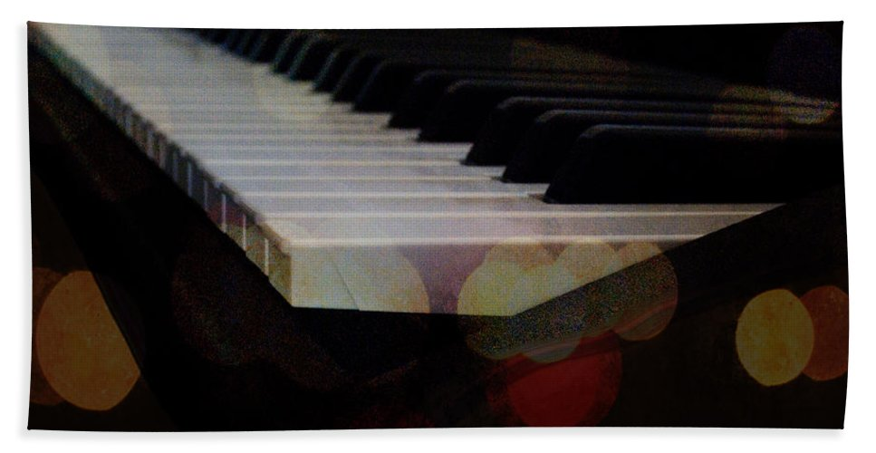 Featured Bath Sheet featuring the photograph Piano Magic by Paulette B Wright
