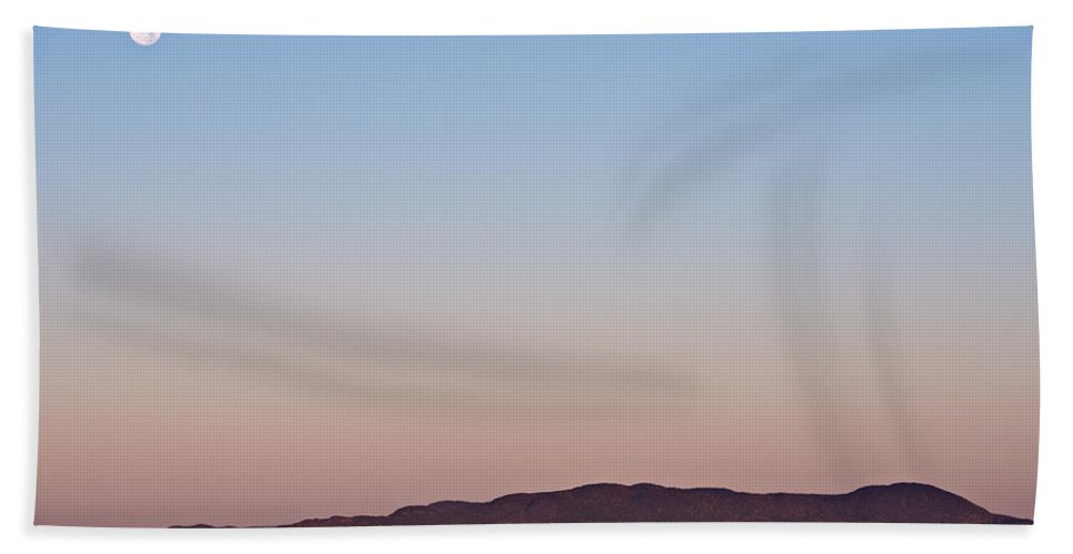 Pic Island Bath Sheet featuring the photograph Pic Moon by Doug Gibbons
