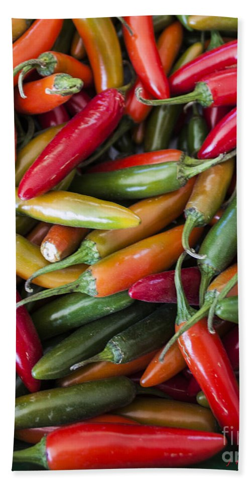 Capsicum Bath Sheet featuring the photograph Pick A Peck Of Peppers by Janice Pariza