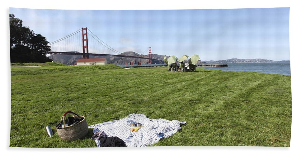 Carefree Hand Towel featuring the photograph Picnicking At Golden Gate Park by Gal Eitan