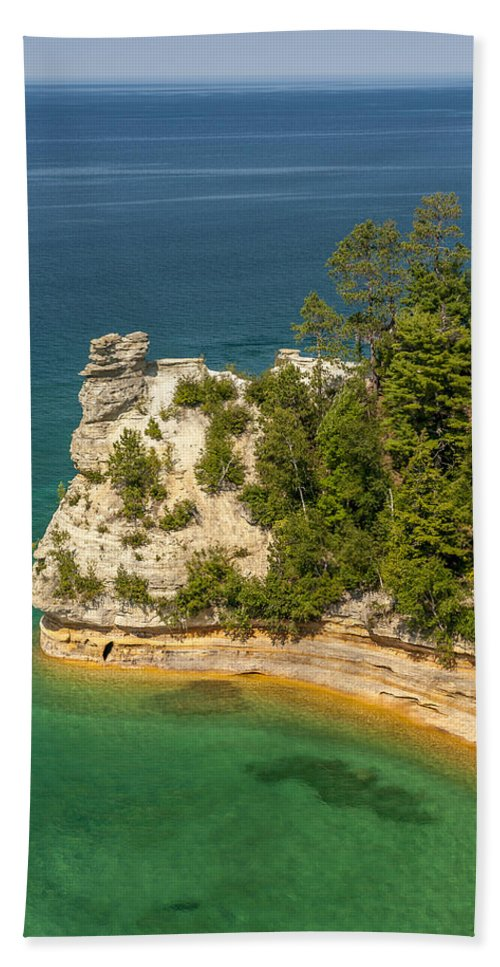 Pictured Rocks National Lakeshore Hand Towel featuring the photograph Pictured Rocks National Lakeshore by Sebastian Musial