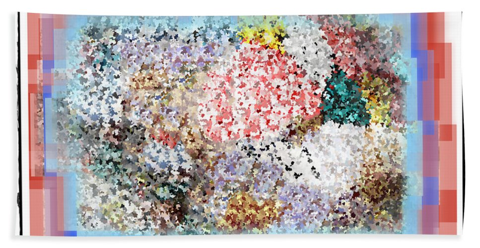 Pieces Of April Hand Towel featuring the digital art Pieces Of April by Bill Cannon