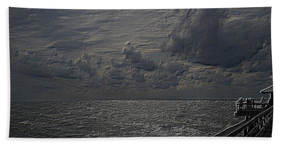 Beach Bath Sheet featuring the photograph Pier Fx by Joseph Yarbrough