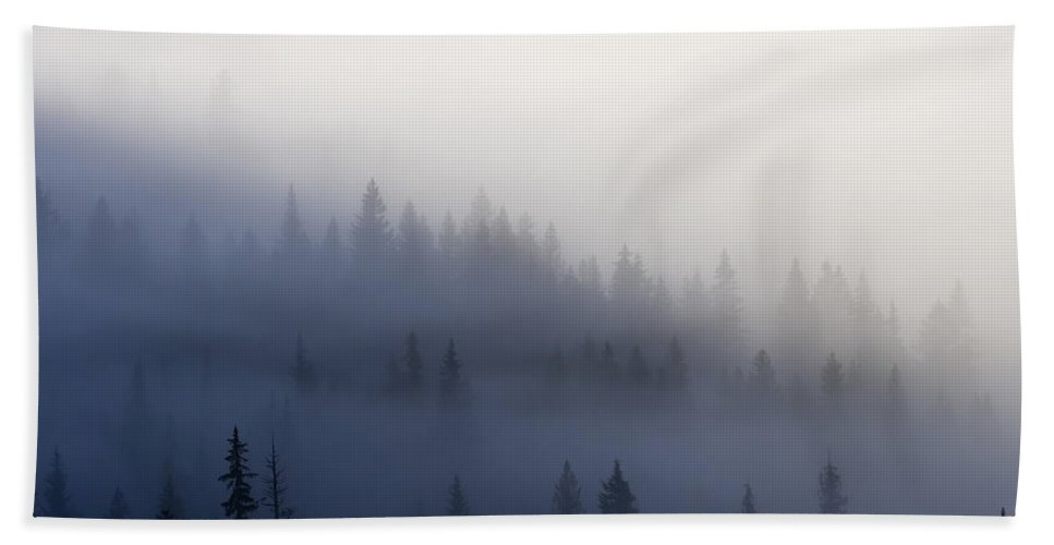 Clouds Bath Sheet featuring the photograph Piercing The Veil by Mike Dawson