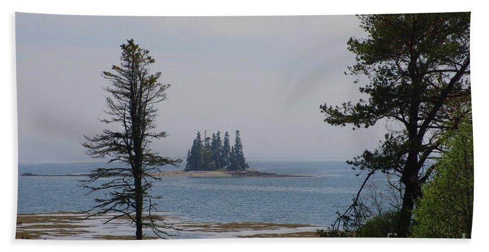 Island Hand Towel featuring the photograph Pine Island by Ray Konopaske