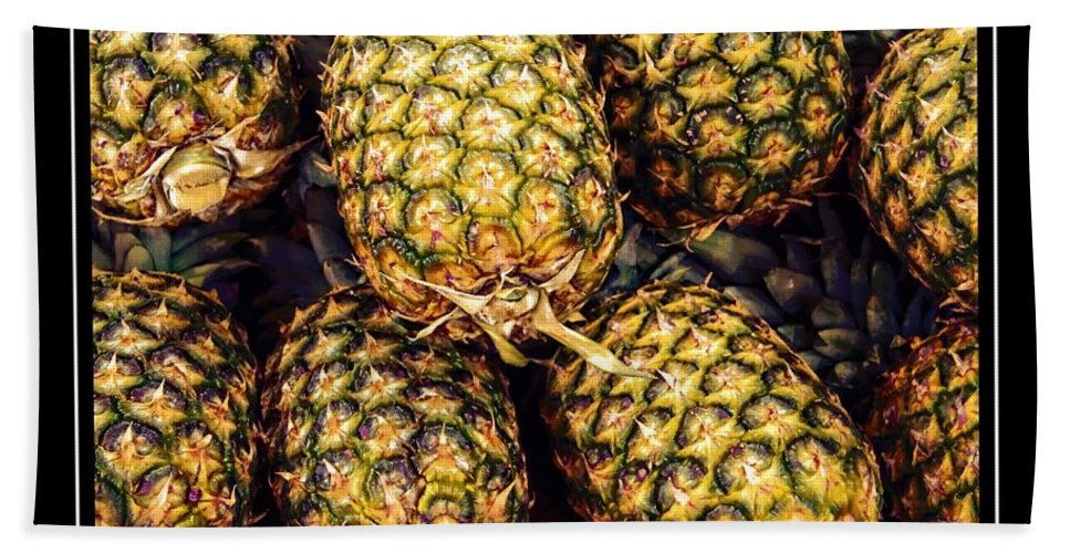 Pineapples Bath Towel featuring the photograph Pineapple Color by Alice Gipson