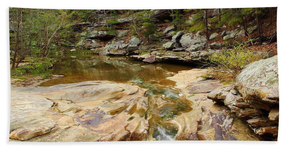 Piney Creek Hand Towel featuring the photograph Piney Creek In Southern Illinois by Greg Matchick