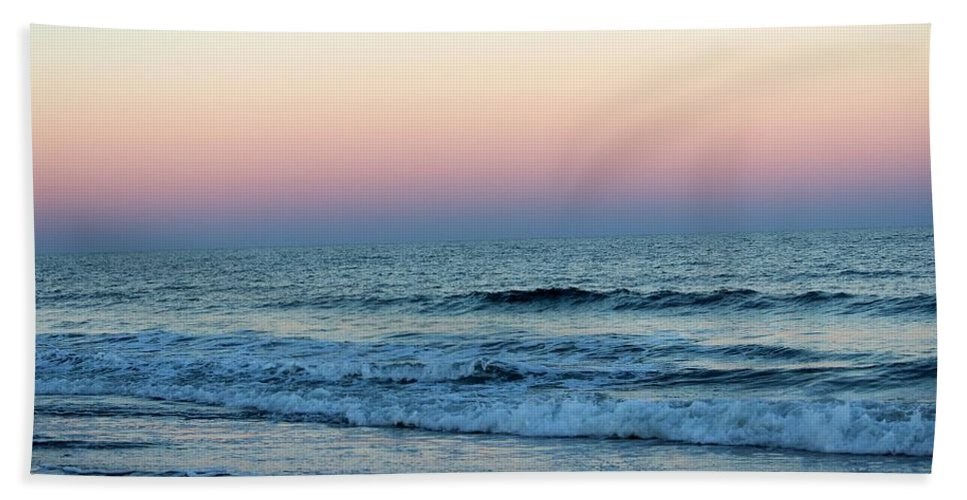 Colorful Hand Towel featuring the photograph Pink And Blue Sky by Cynthia Guinn