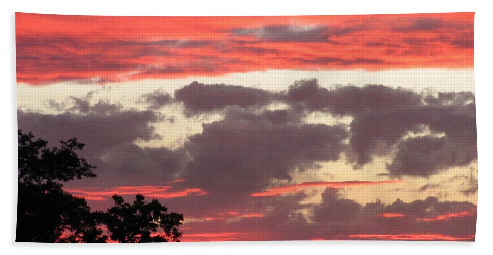 Pink Clouds Sunset Photograph Sunset Canvas Prints Skyscape Silhouette Landscape Pink And Purple Clouds Prints Pink Skies Purple Sky Pink Skyscape Posters Hand Towel featuring the photograph Pink Clouds by Joshua Bales