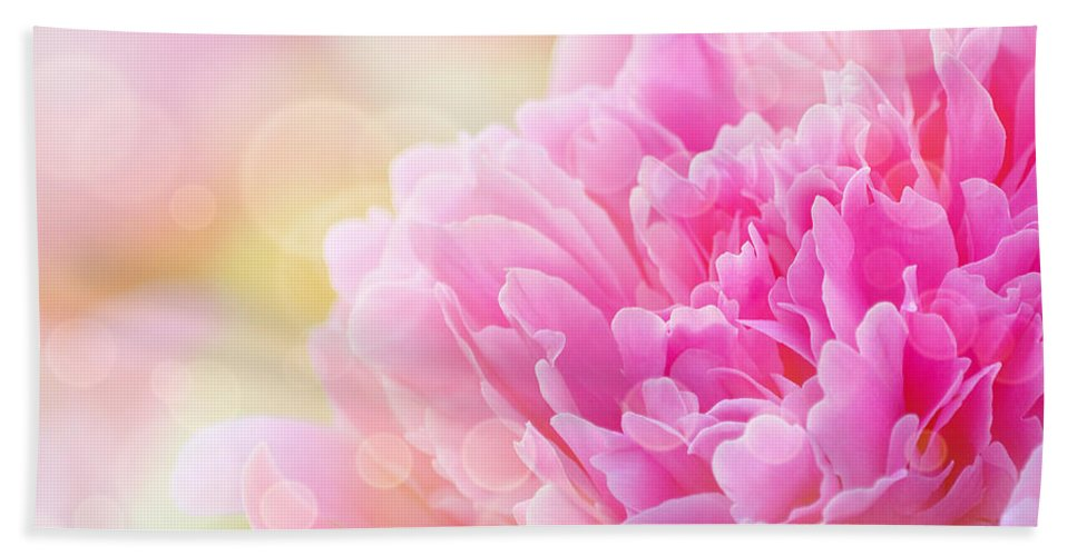 Art Bath Sheet featuring the photograph Pink Dream by Joan Han