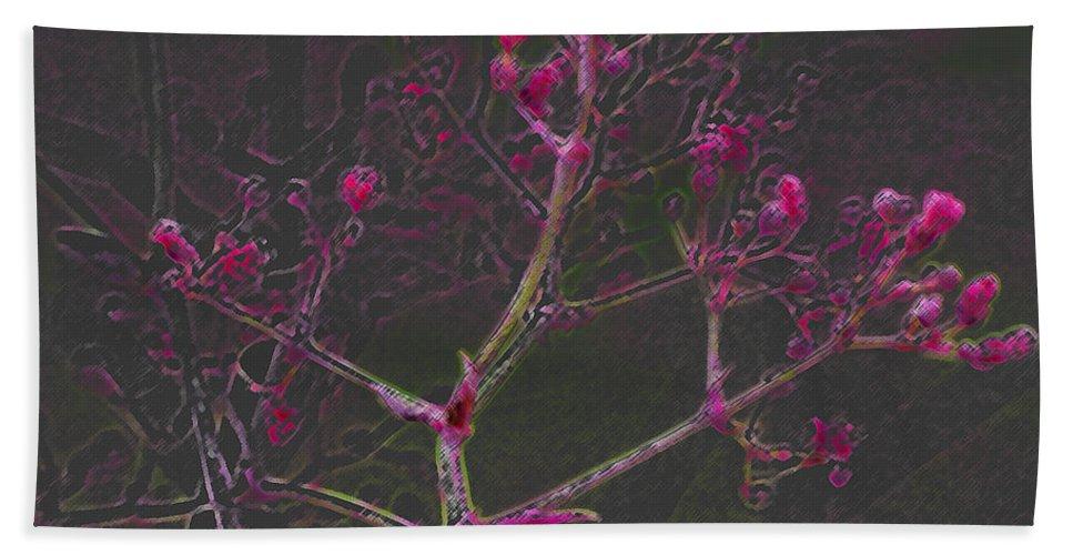 Pink Bath Sheet featuring the digital art Pink Flowers by Carol Lynch