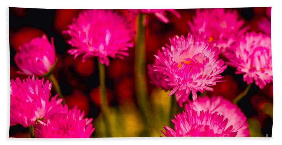 Pink Hand Towel featuring the photograph Pink Flowers by Michael Moriarty