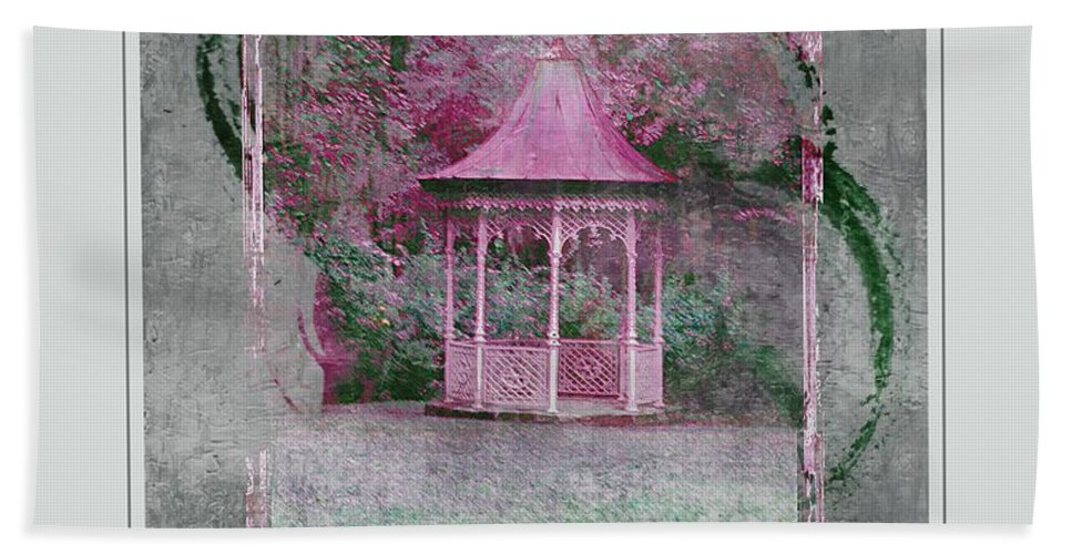Pink Bath Towel featuring the photograph Pink Gazebo by Kathleen Struckle