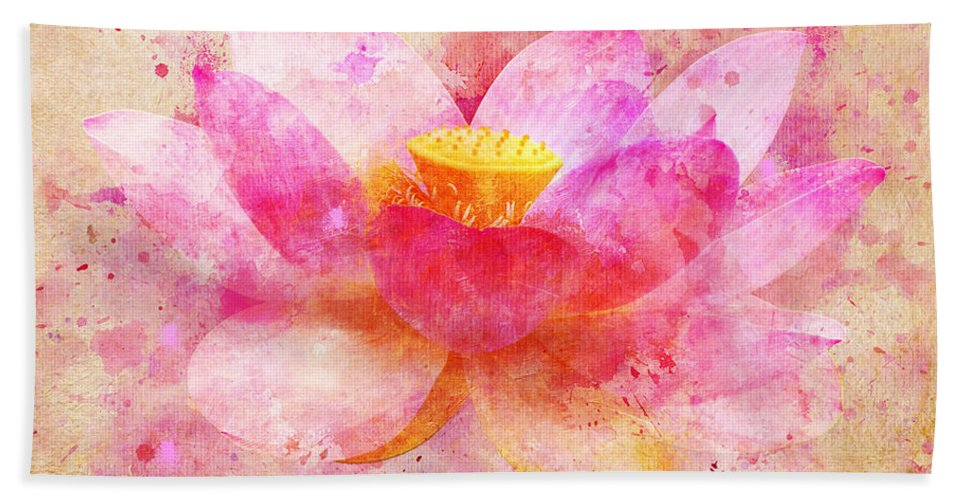 Pink lotus flower abstract artwork bath towel for sale by nikki lotus bath towel featuring the digital art pink lotus flower abstract artwork by nikki marie smith mightylinksfo
