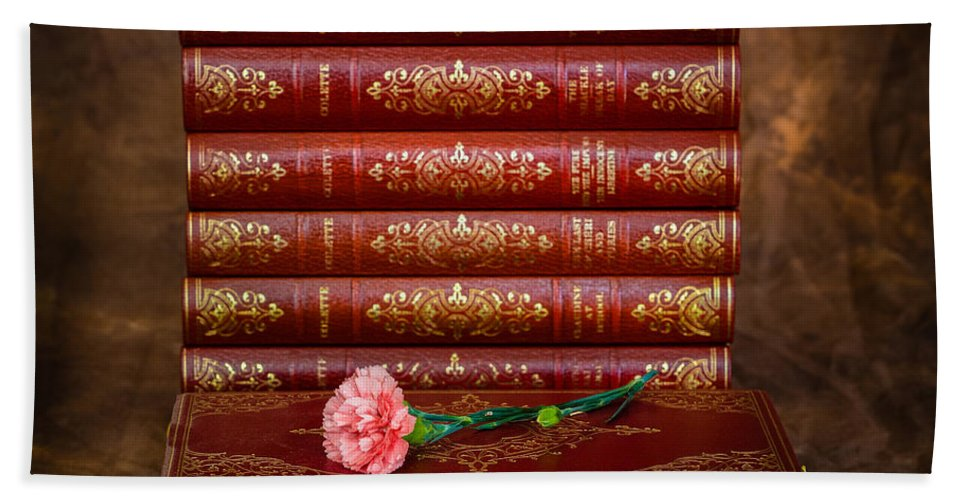 Books Hand Towel featuring the photograph Pink Peonies 1 by Mark Llewellyn