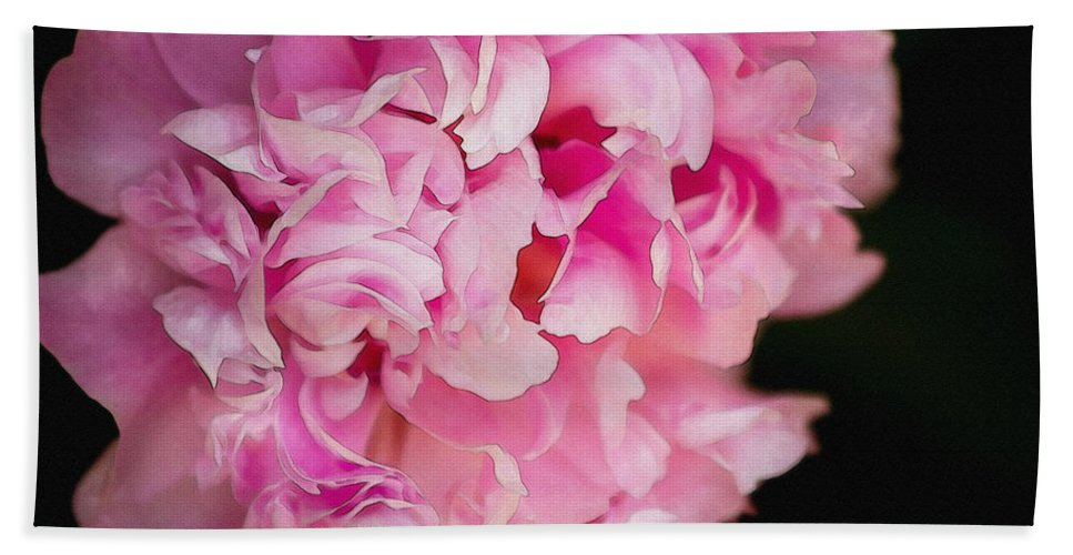 Pink Bath Sheet featuring the photograph Pink Peony by Pati Photography