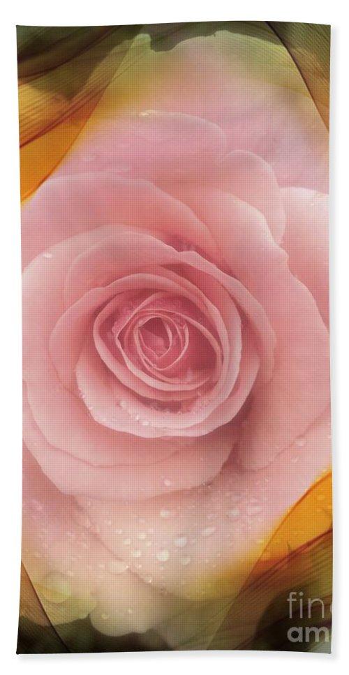 Pink Rose Romance Bath Sheet featuring the photograph Pink Rose Romance by Susan Garren