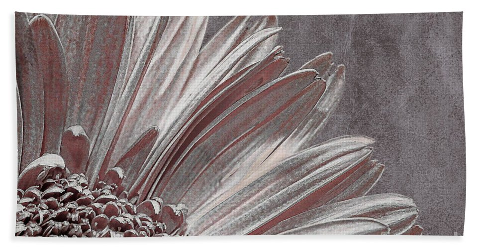 Flower Hand Towel featuring the photograph Pink Silver by Lois Bryan