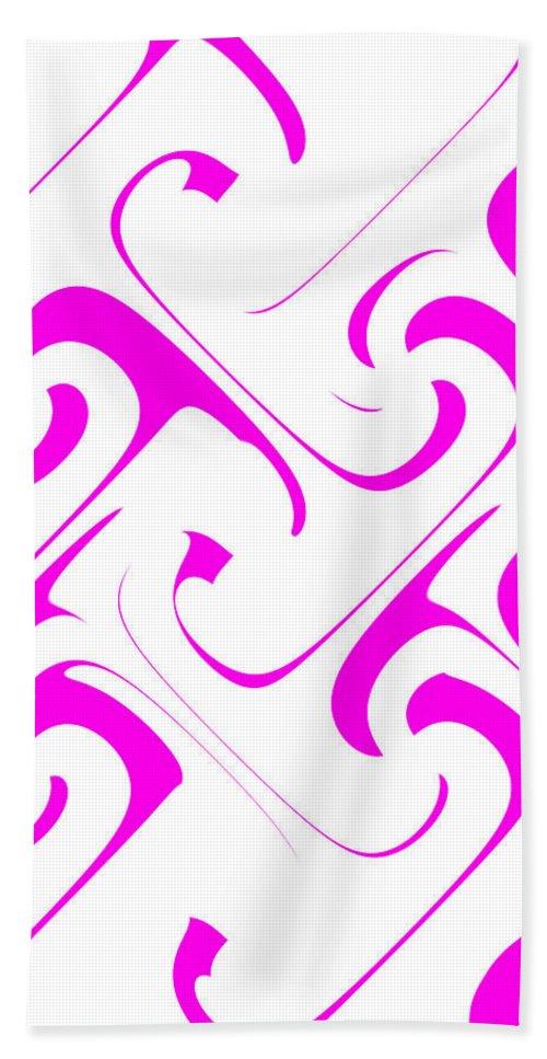 women's Fashion girl's Fashion fashion Design Fashion Design Abstract abstract Art Abstract Bath Sheet featuring the photograph Pink Swirls by Bill Owen