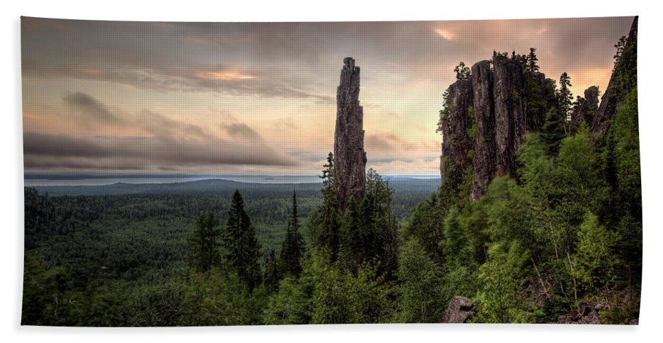 Bluff Bath Sheet featuring the photograph Pinnacles The Dorion Tower by Jakub Sisak