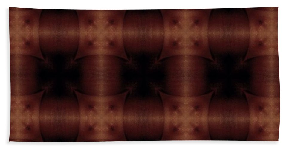 Abstract Hand Towel featuring the digital art Pipe Works by James Barnes