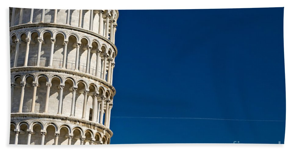 Arch Hand Towel featuring the photograph Pisa - The Leaning Tower by Luciano Mortula