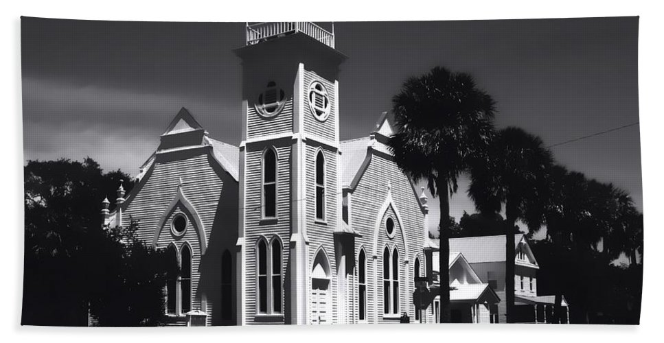 Apalachicola Florida Hand Towel featuring the photograph Place Of Worship by Debra Forand