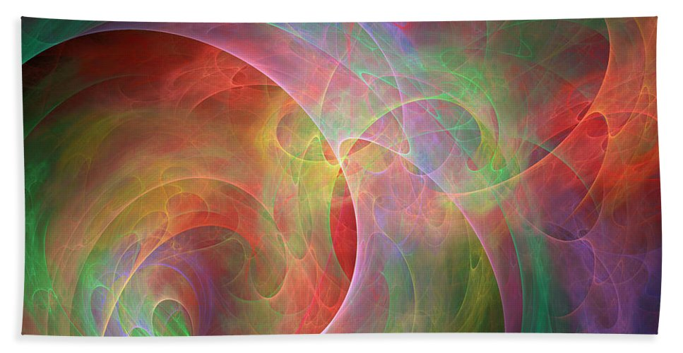 Pleasures Hand Towel featuring the digital art Placeres-03 by RochVanh