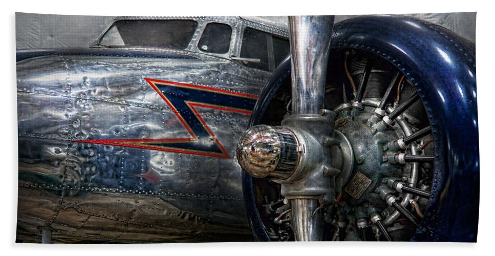 Plane Bath Towel featuring the photograph Plane - Hey Fly Boy by Mike Savad