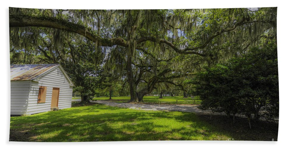 Plantation Hand Towel featuring the photograph Plantation Grounds by Dale Powell