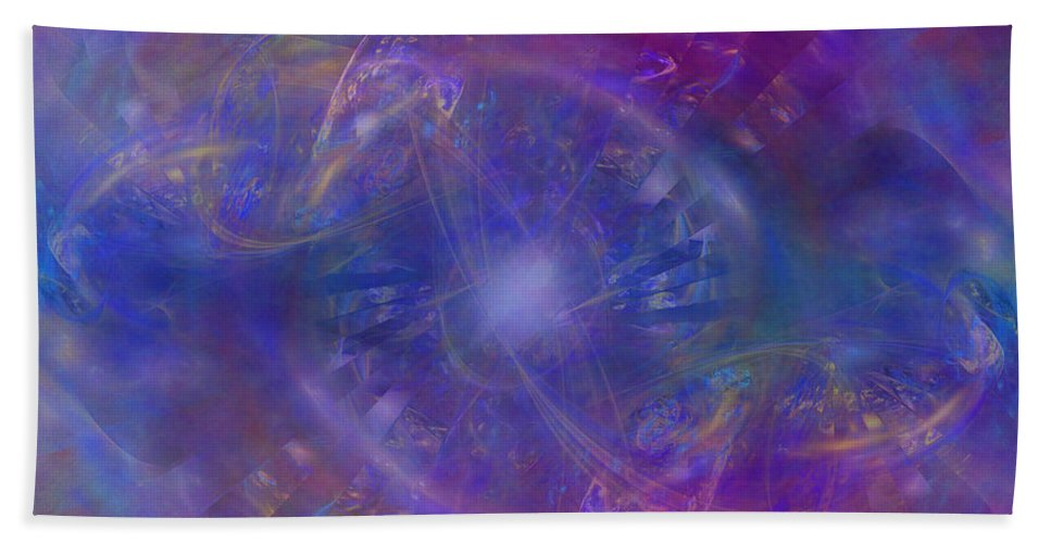 Space Hand Towel featuring the digital art Plasma Drive Ignition by Diane Parnell