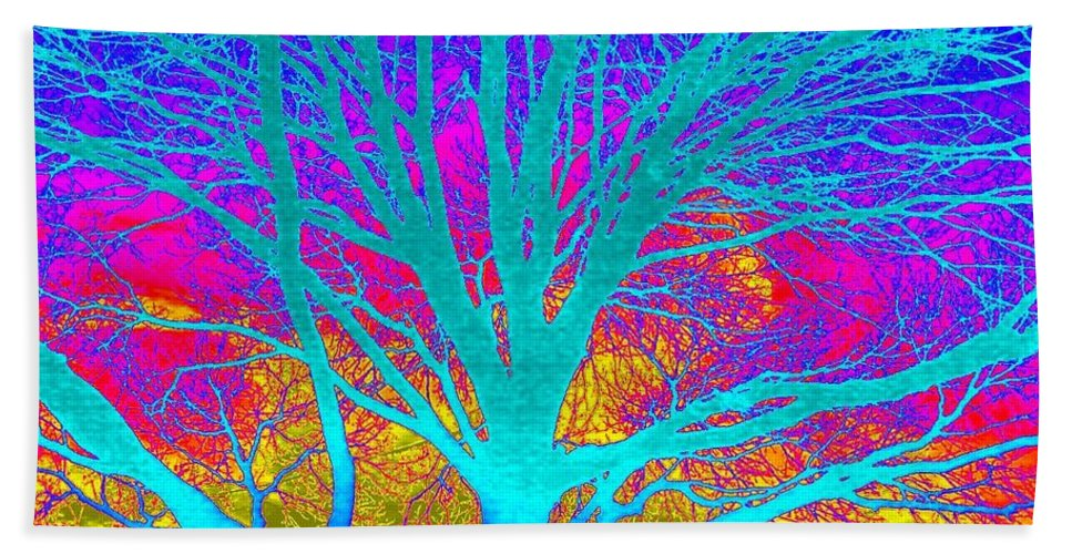 Playful Bath Sheet featuring the photograph Playful Colors 4 by Cindy New