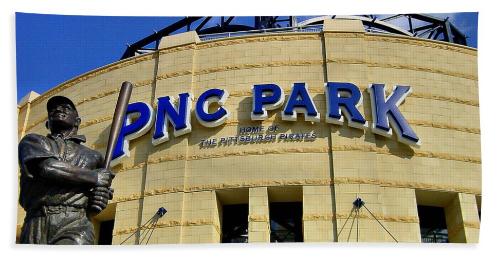 Alleghen County Bath Sheet featuring the photograph Pnc Park Baseball Stadium Pittsburgh Pennsylvania by Amy Cicconi