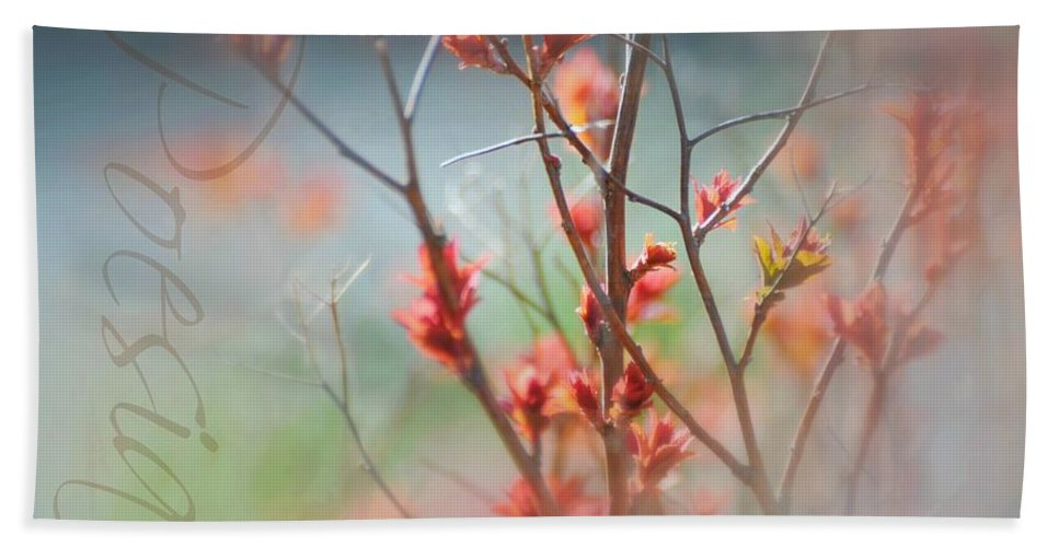 Spring Hand Towel featuring the photograph Poetry by Diana Angstadt