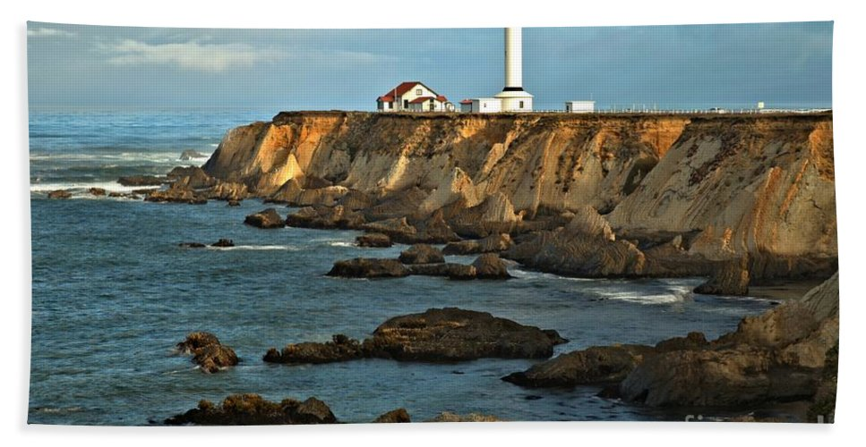 Point Arena Bath Sheet featuring the photograph Point Arena Lighthouse by Adam Jewell