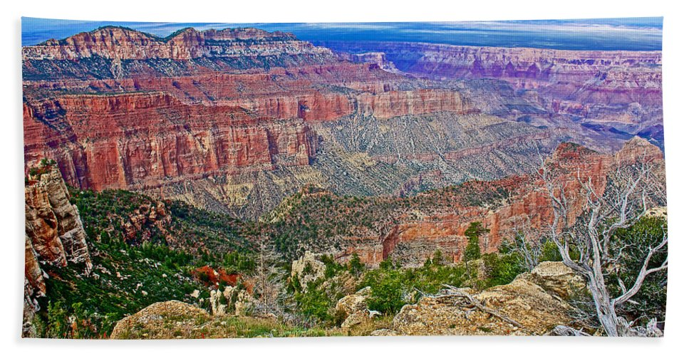 Point Imperial At 8803 Feet On North Rim/grand Canyon National Park Hand Towel featuring the photograph Point Imperial 8803 Feet On North Rim Of Grand Canyon National Park-arizona  by Ruth Hager