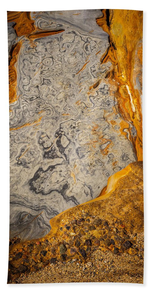 Copyrighted Hand Towel featuring the photograph Point Lobos Abstract 12 by Mike Penney