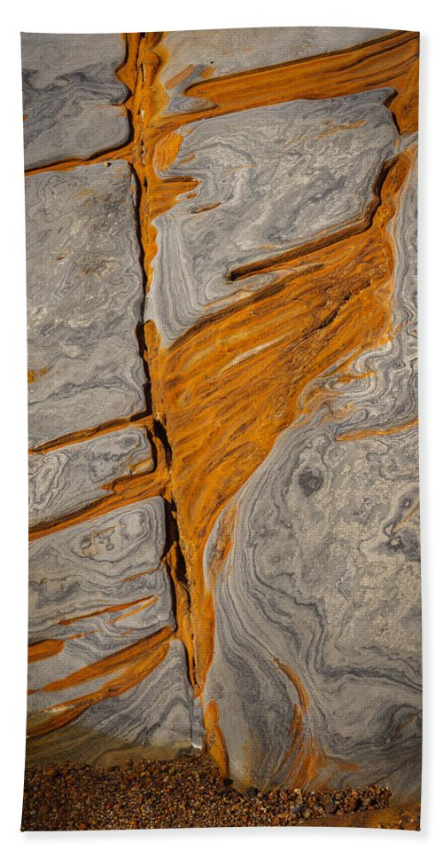 Copyrighted Hand Towel featuring the photograph Point Lobos Abstract 13 by Mike Penney
