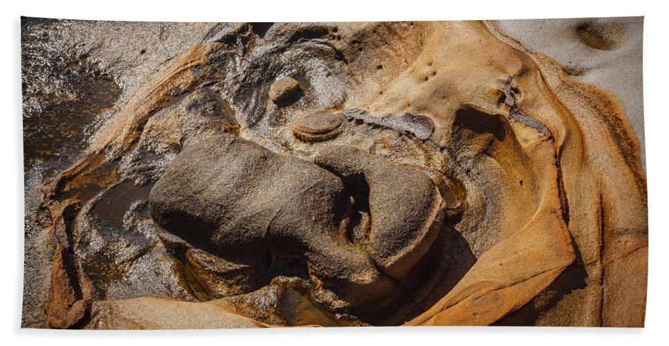 Copyrighted Hand Towel featuring the photograph Point Lobos Abstract 7 by Mike Penney