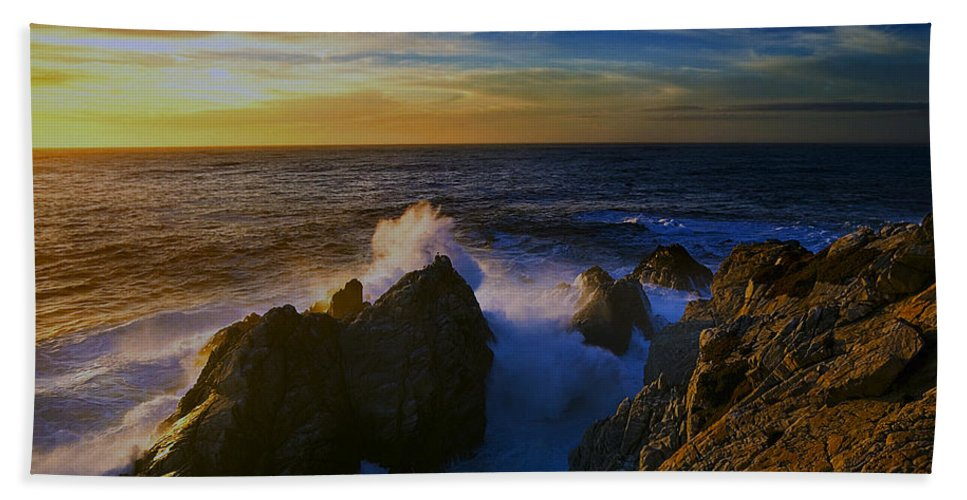 Point Lobos Hand Towel featuring the photograph Point Lobos Two by Ingrid Smith-Johnsen