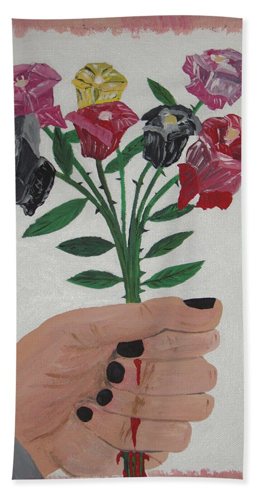 Painting Hand Towel featuring the painting Point Of Beauty by Dean Stephens