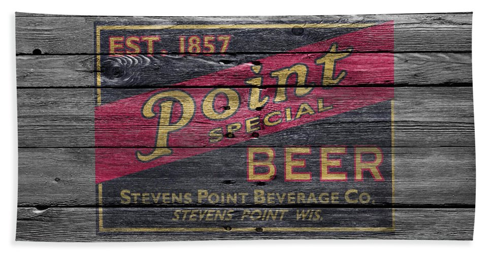 Point Special Hand Towel featuring the photograph Point Special Beer by Joe Hamilton
