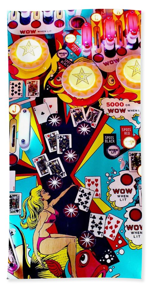 Pinball Bath Sheet featuring the photograph Poker Playfield by Benjamin Yeager