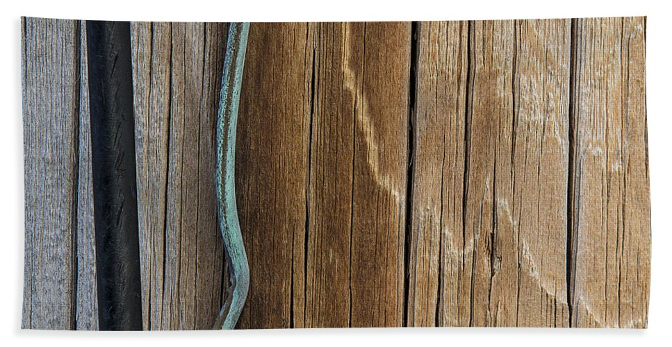 Telephone Pole Bath Sheet featuring the photograph Pole Art 18 by David Stone