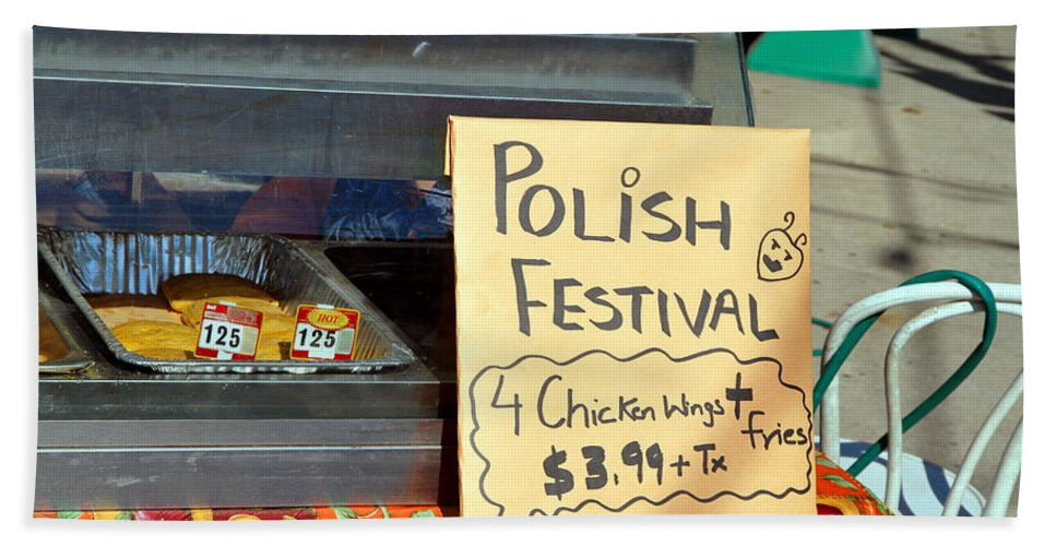 Food Bath Sheet featuring the photograph Polish Food Street Stand by Valentino Visentini