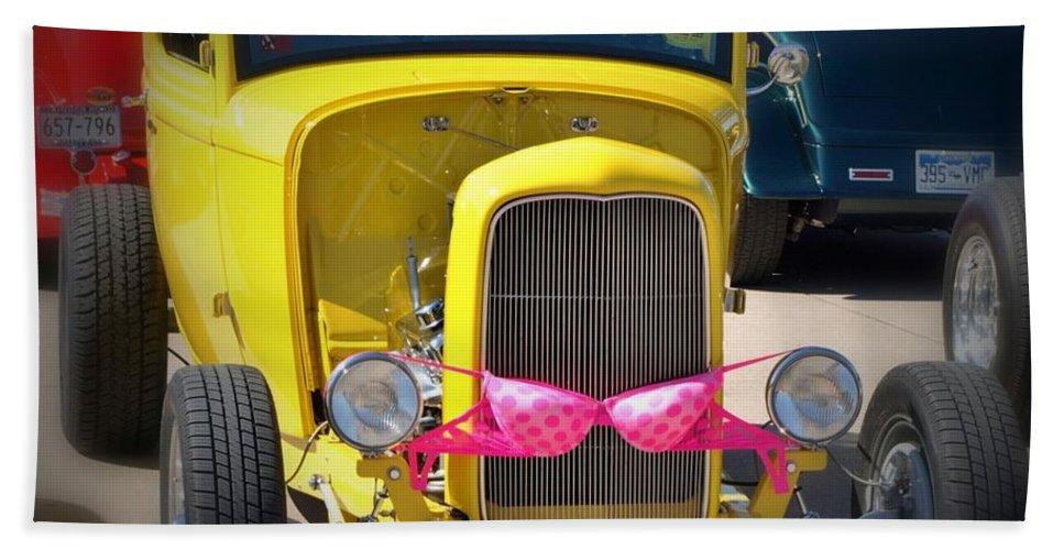 Classic Cars Hand Towel featuring the photograph Polka Dot Bikini by Cathy Smith