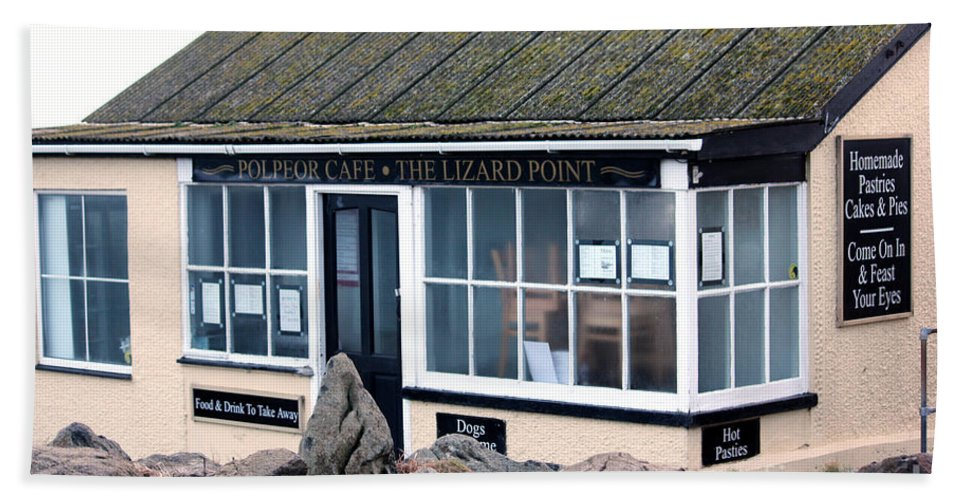 Polpeor Cafe Hand Towel featuring the photograph Polpeor Cafe The Lizard Point by Terri Waters