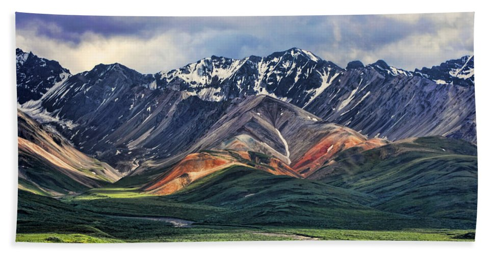 Polychrome Bath Towel featuring the photograph Polychrome by Heather Applegate
