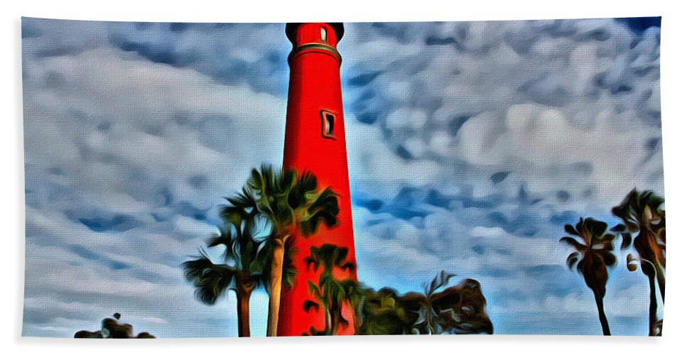 Alicegipsonphotographs Bath Sheet featuring the photograph Ponce Inlet Lighthouse by Alice Gipson