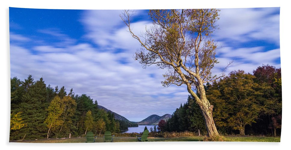 Acadia Bath Sheet featuring the photograph Pond House Views by Kristopher Schoenleber